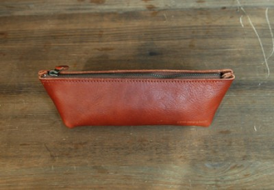 LEATHER PENCIL CASE_brown