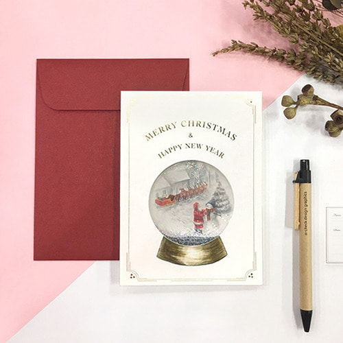 SNOW GLOBE CARD_WHITE CHRISTMAS