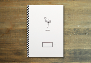 CAHIER NOTE_flamingo