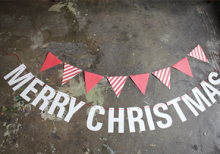 CHRISTMAS BUNTING_red