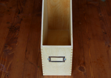 WOOD FILE CASE