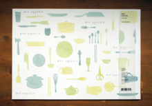 PAPER PLACE MAT_green