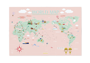 WORLD MAP KIDS ver.Pink